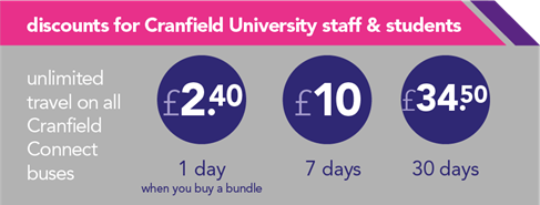 discounted travel for Cranfield University staff & students